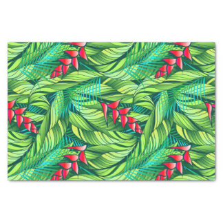 Heliconia tropical floral tissue paper