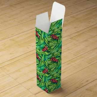 Heliconia tropical floral wine box