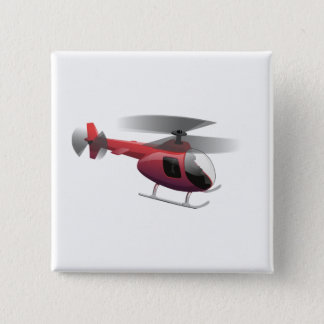Helicopter 2 Inch Square Button
