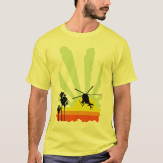 Helicopter and Sunset T-Shirt