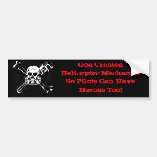 Helicopter Aviation Mechanic Bumper Sticker