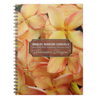 Helicopter Blossoms Decor Modern Nature Notebook