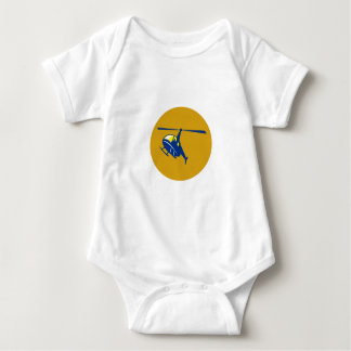 Helicopter Chopper Flying Circle Retro Baby Bodysuit
