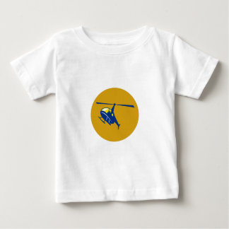 Helicopter Chopper Flying Circle Retro Baby T-Shirt
