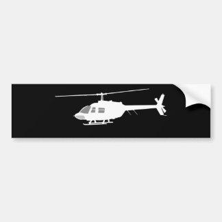 Helicopter Chopper Silhouette Flying Black Bumper Sticker