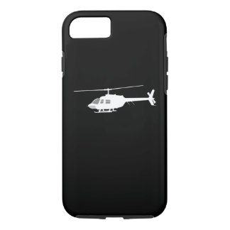 Helicopter Chopper Silhouette Flying Black iPhone 7 Case