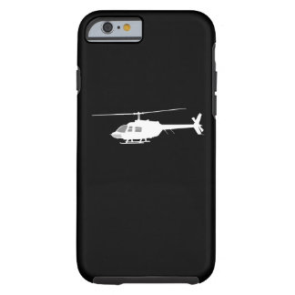 Helicopter Chopper Silhouette Flying Black Tough iPhone 6 Case