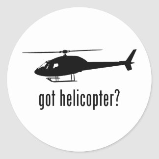 Helicopter Classic Round Sticker