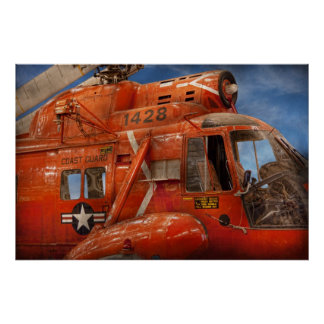 Helicopter - Coast guard helicopter Poster