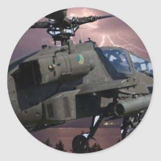HELICOPTER FLYING OVER MUNICH ROUND STICKER