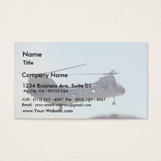 Helicopter In Air Business Card