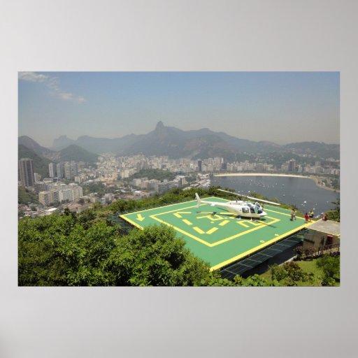 Helicopter landing on Pao de Azucar - Rio Print