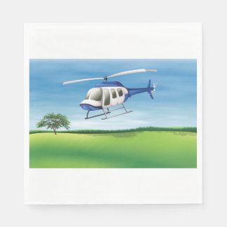 Helicopter Landing Paper Napkins