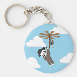 Helicopter Man Keychain