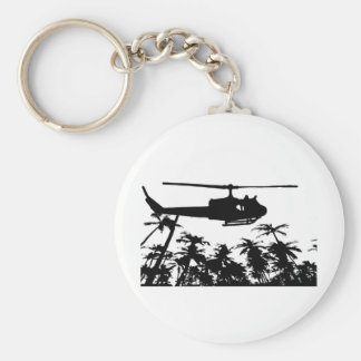 helicopter palm trees keychain