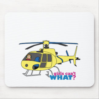 Helicopter Pilot Mouse Pad