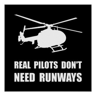 Helicopter Pilot Runways Poster