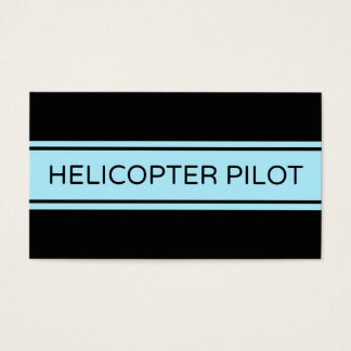 Helicopter Pilot Stripe Business Card