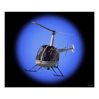 Helicopter Prints Cool Chopper Pilot Prints Poster