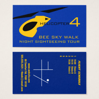 Helicopter Sightseeing tour Business Card