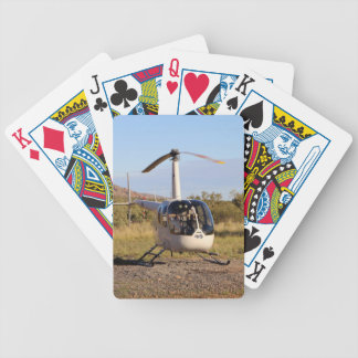Helicopter (white), Outback Australia 2 Bicycle Playing Cards