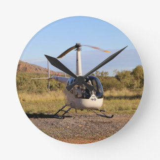 Helicopter (white), Outback Australia 2 Clock
