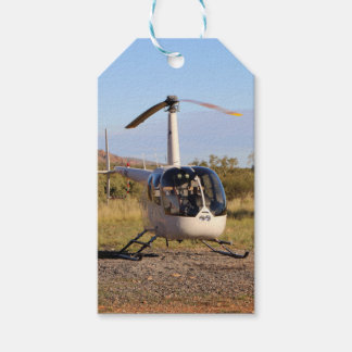Helicopter (white), Outback Australia 2 Gift Tags