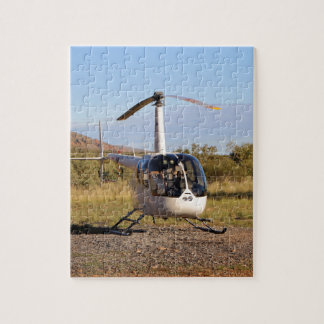 Helicopter (white), Outback Australia 2 Jigsaw Puzzle