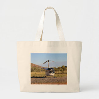 Helicopter (white), Outback Australia 2 Large Tote Bag
