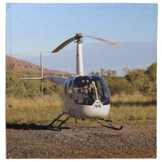 Helicopter (white), Outback Australia 2 Napkin