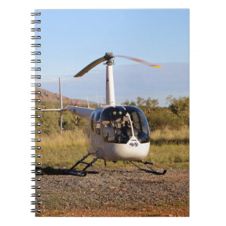 Helicopter (white), Outback Australia 2 Notebooks