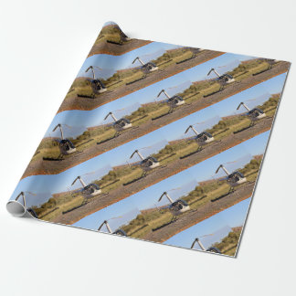 Helicopter (white), Outback Australia 2 Wrapping Paper