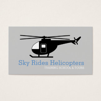 Helicopters Pilot Training Tours Flight School Business Card