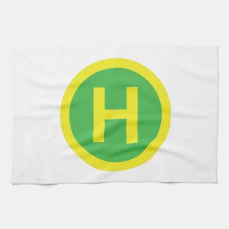Helipad Sign Kitchen Towel