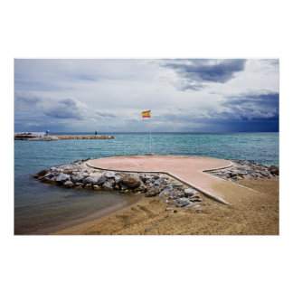 Heliport on the Mediterranean Sea Poster
