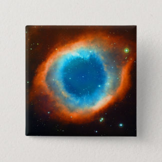 Helix Nebula, Galaxies and Stars 2 Inch Square Button