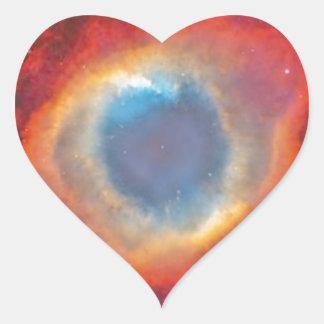 Helix Nebula Heart Sticker