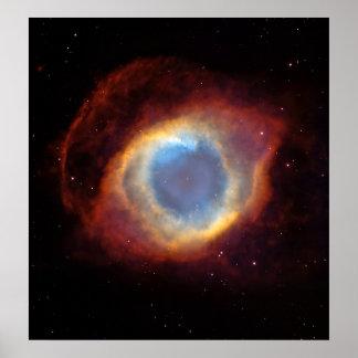 Helix Nebula (Hubble Telescope) Poster