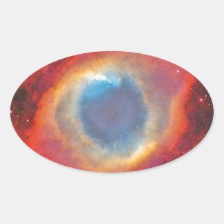 Helix Nebula Oval Sticker