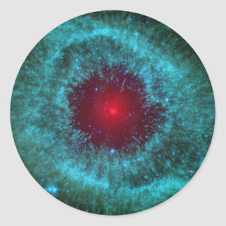 Helix Nebula Round Sticker