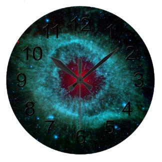 Helix Nebula Space Astronomy Science Photo Clocks