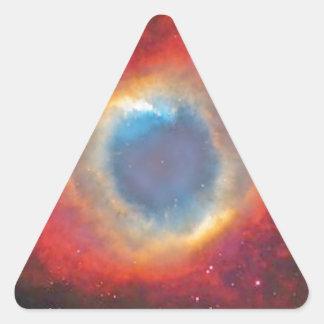Helix Nebula Triangle Sticker