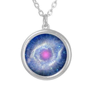 Helix Nebula Ultraviolet Eye of God Space Photo Silver Plated Necklace