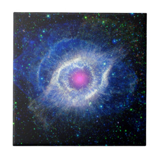 Helix Nebula Ultraviolet Eye of God Space Photo Tile