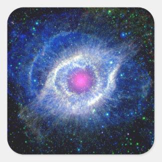 Helix Nebula Ultraviolet Square Sticker
