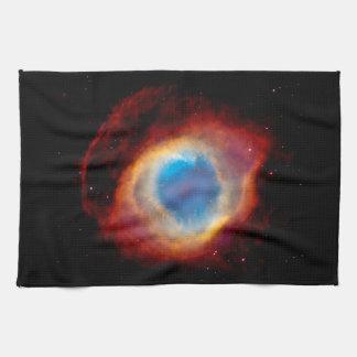 Helix Planetary Nebula NGC 7293 - Eye of God Kitchen Towel