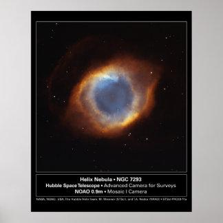 HelixNebula-NGC7293-2003-11a Poster