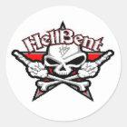 hell bent 1 classic round sticker