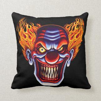 Hell Clown Throw Pillow
