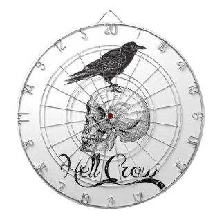 Hell Crow Halloween Dartboard